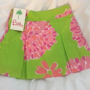 Lilly Pulitzer NWT. Girls size 6 pink/green skirt